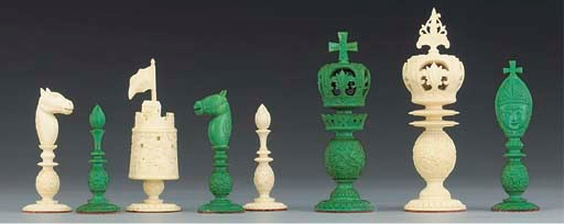 A Burmese style carved ivory s