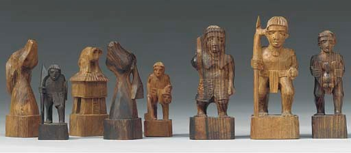 A Papua New guinea carved wood