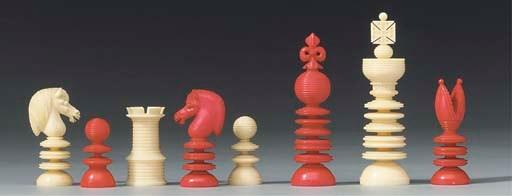 An English ivory chess set