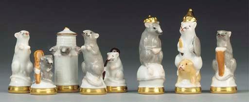 A Continental porcelain mouse