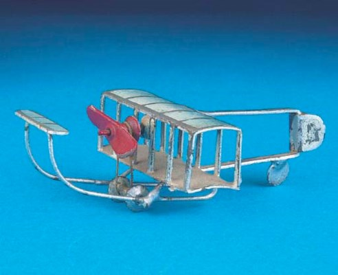 An early Plank tinplate Biplan