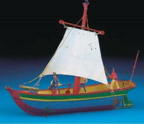 An Issmayer brass Sailing Gunb