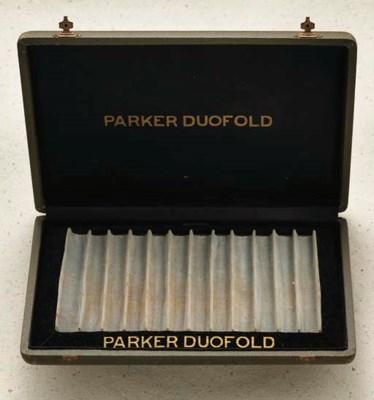 A PARKER DUOFOLD 12-PEN DISPLA