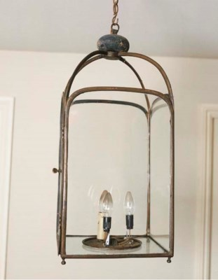 An English brass hall lantern