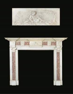 AN ENGLISH STATUARY WHITE MARB