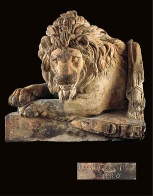A COADE STONE LION ROYAL ARMOR
