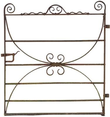 AN ENGLISH WROUGHT IRON GATE