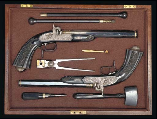 A CASED PAIR OF 50-BORE FRENCH