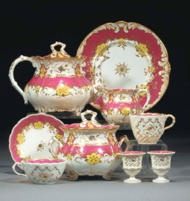 A Rockingham part tea, coffee