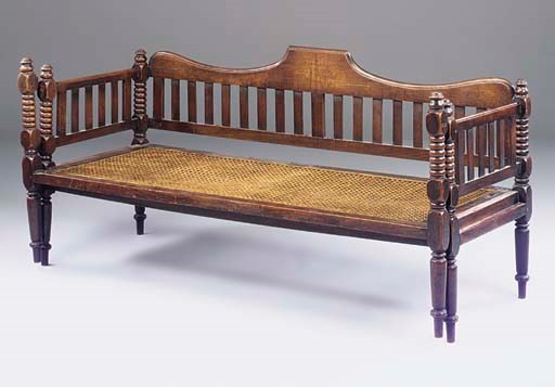 AN ANGLO-INDIAN MAHOGANY CAMPA