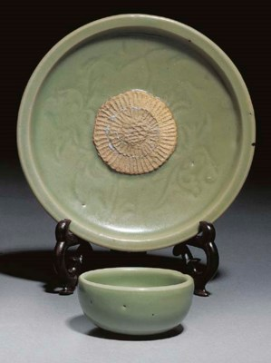 A Chinese celadon glazed cup a