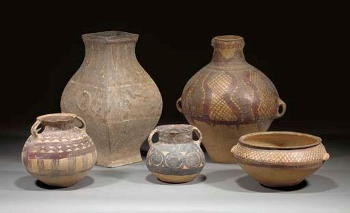 A Han pottery hu vase
