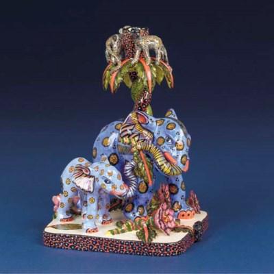 An elephant candlestick