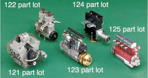A fine miniature four cylinder