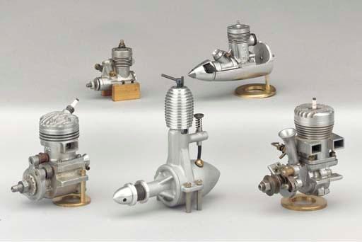 A Rossi 15 glow plug engine,