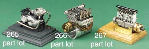 A miniature Cirrus four cylind
