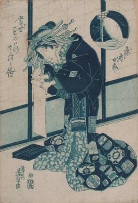 Thirteen Japanese prints, 19th
