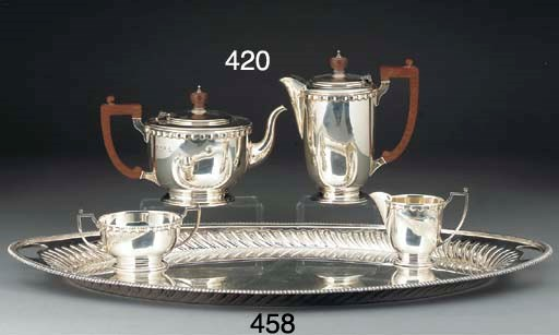 A Four-Piece Modern Silver Tea