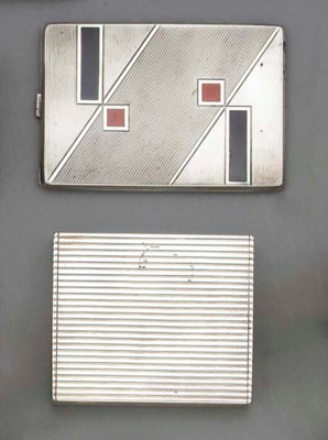 A French Silver Cigarette Case