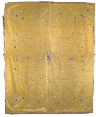 An embroidered coverlet of och