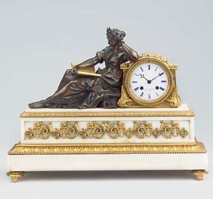 A Napoleon III bronze, ormolu