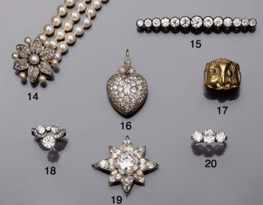 A Victorian diamond heart lock