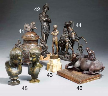 A Chinese bronze koro and cove