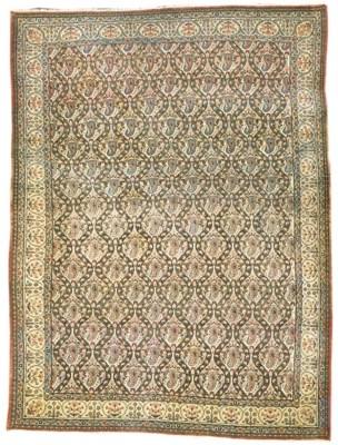 A fine Qum carpet, Central Per