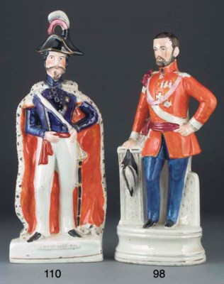 A Staffordshire figure of Vict