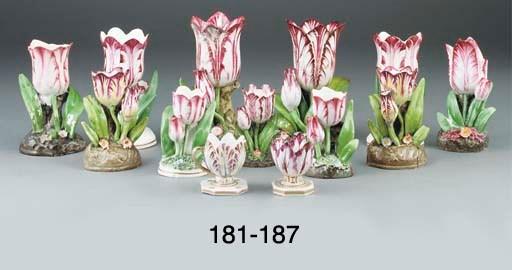Ten various tulip-shaped spill