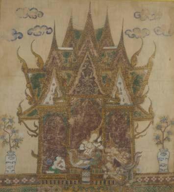 A Thai painting on cloth, 19th