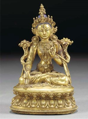 A Sino-Tibetan bronze model of