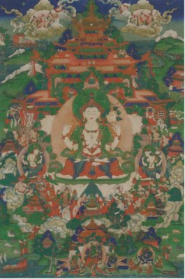 A Tibetan Thangka of Avalokite