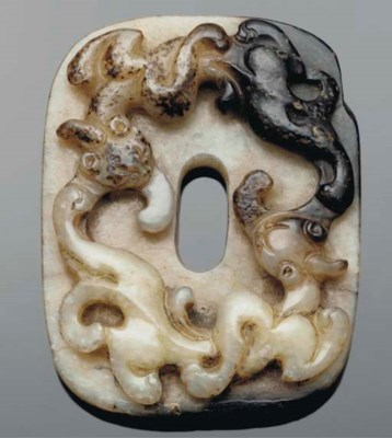 A Chinese celadon and russet j
