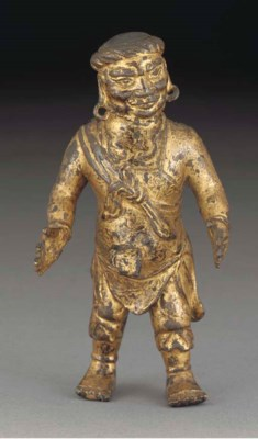 A Mongolian lacquered and gilt