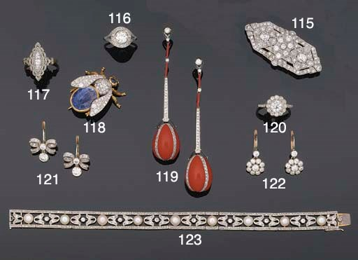 A diamond panel brooch