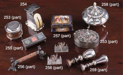 A Set of Victorian Silver Post