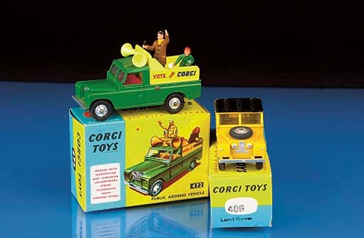 Corgi Land Rovers,  early 1960