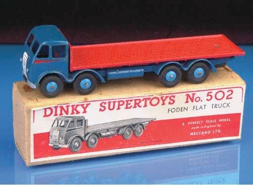 A Dinky dark blue 503 Foden Fl