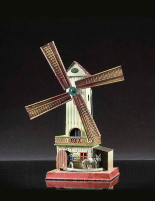 Doll Windmill with Donkey and