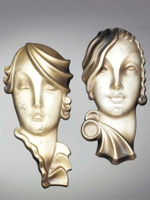 A pair of cold-painted bronze