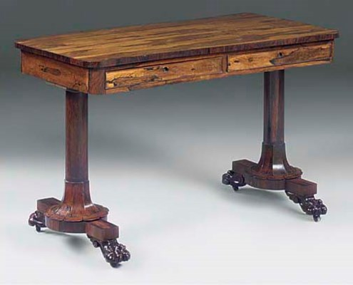 An early Victorian rosewood li