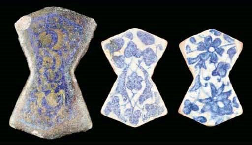 Three polygonal tiles, Raqqa,