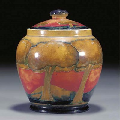 A Moorcroft Eventide Pot and C
