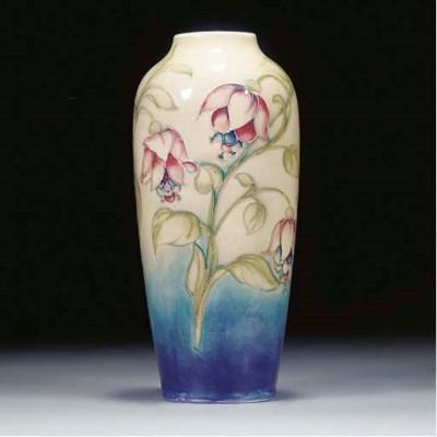 A Moorcroft Fuschia Vase