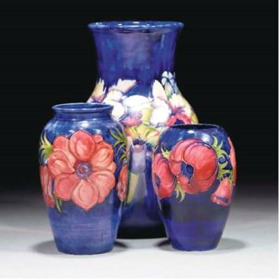 A Moorcroft Anemone Vase