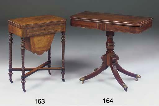 A Victorian walnut and crossba