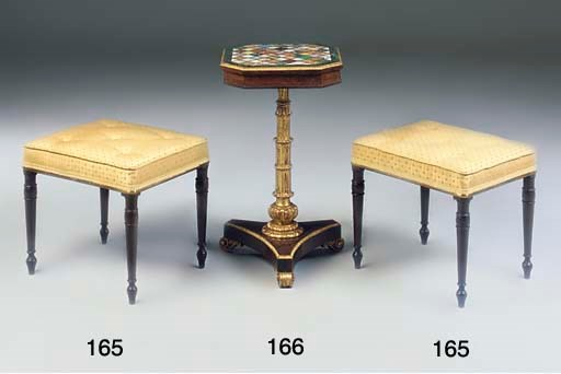 A ROSEWOOD PARCEL GILT AND SPE