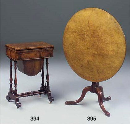 A William IV walnut work and g
