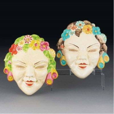 Two Flora Wall Masks